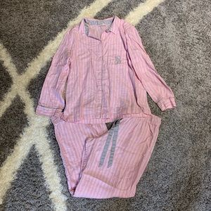 Victoria's Secret Pajama Set Medium Stripes